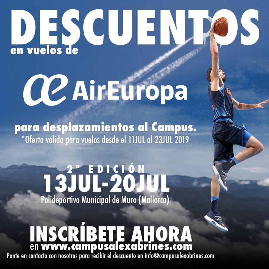 Descuento Air Europa para campistas de fuera de Mallorca