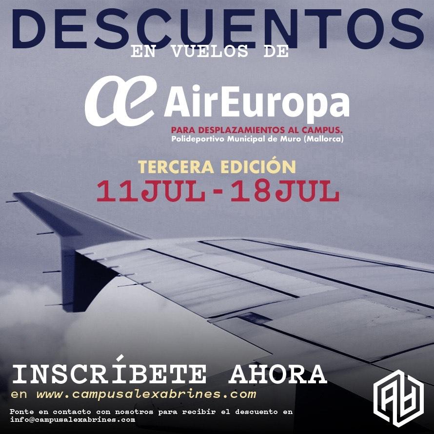 Vuela al Campus de la mano de Air Europa